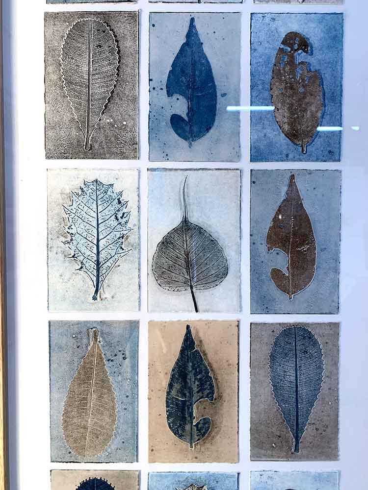 Editions exhibition opening night - Sandra Pearce's work