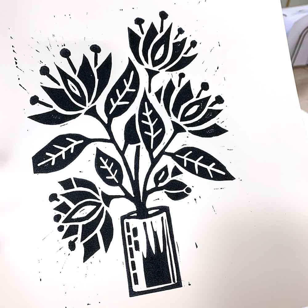 Linoprinting 101 Workshop March 2021