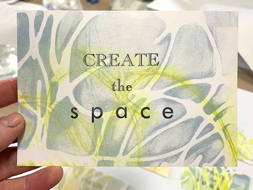 Note to self - Create the space