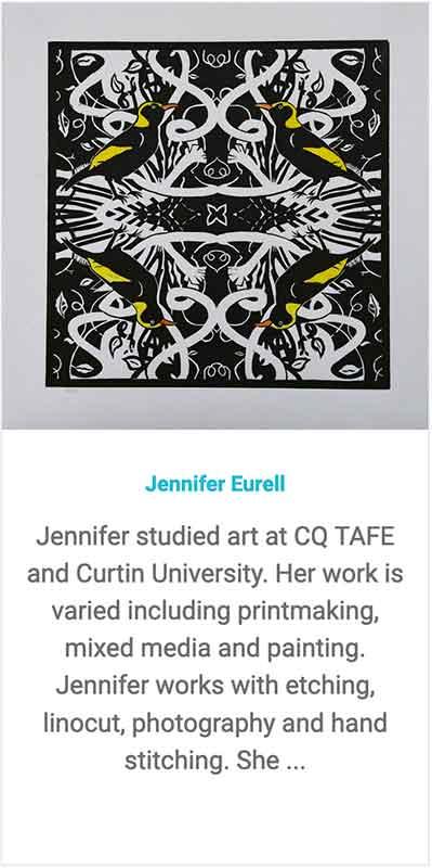 Find Printmaker Jennifer Eurell on the Montville/Nambour trail