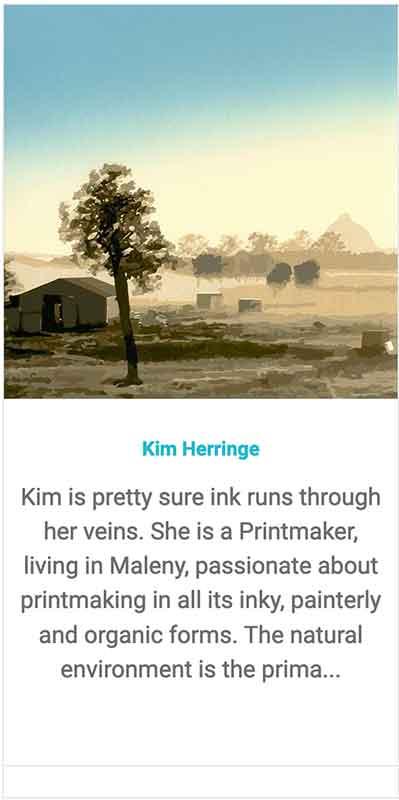 Find Printmaker Kim Herringe on the Maleny trail