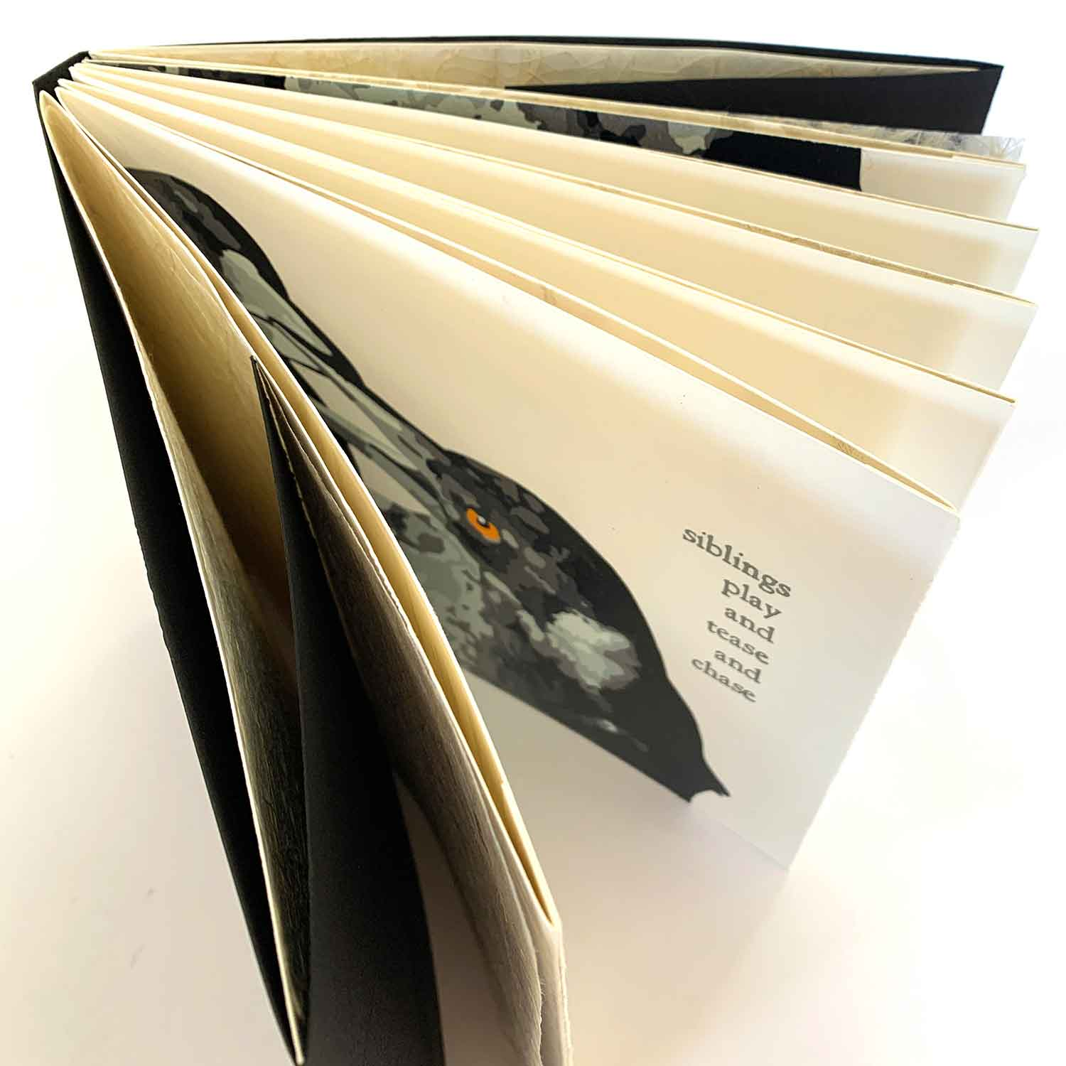 Magpie Stories - Siblings - artist book
