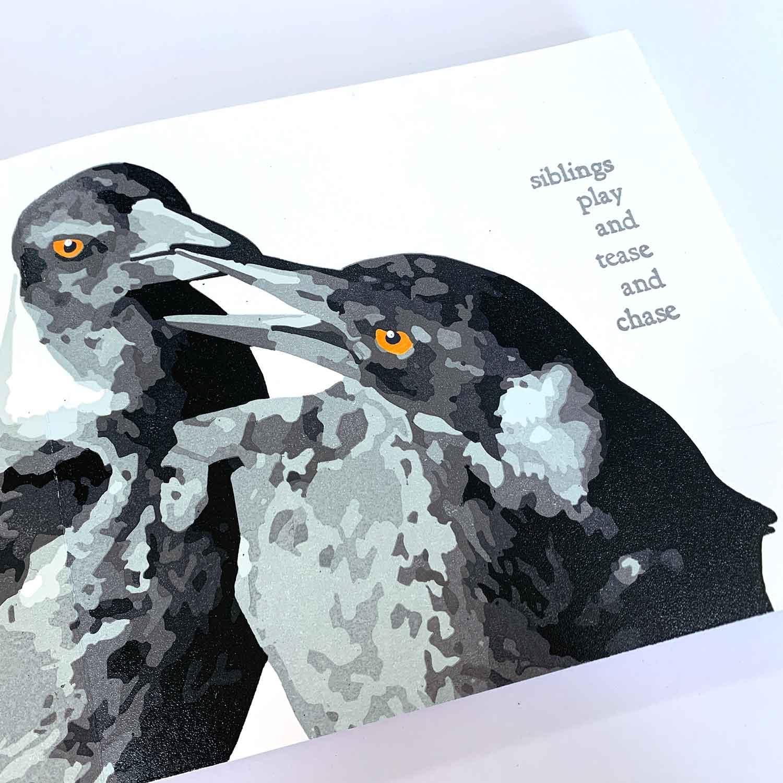 Magpie Stories - Siblings - artist book