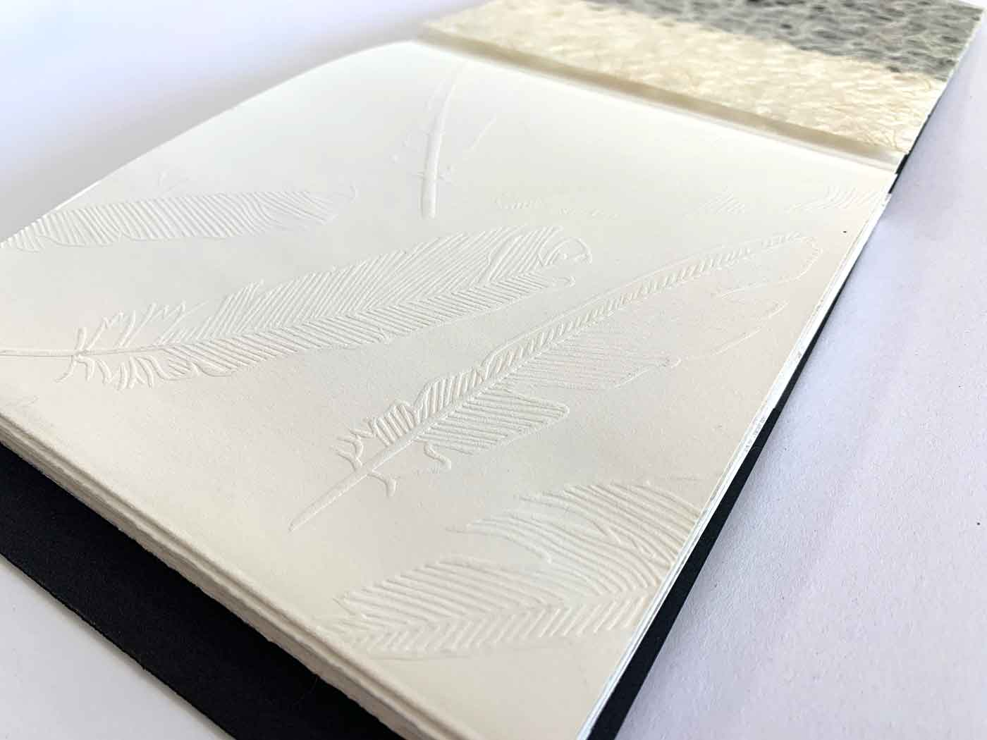Cover embossing inside the book