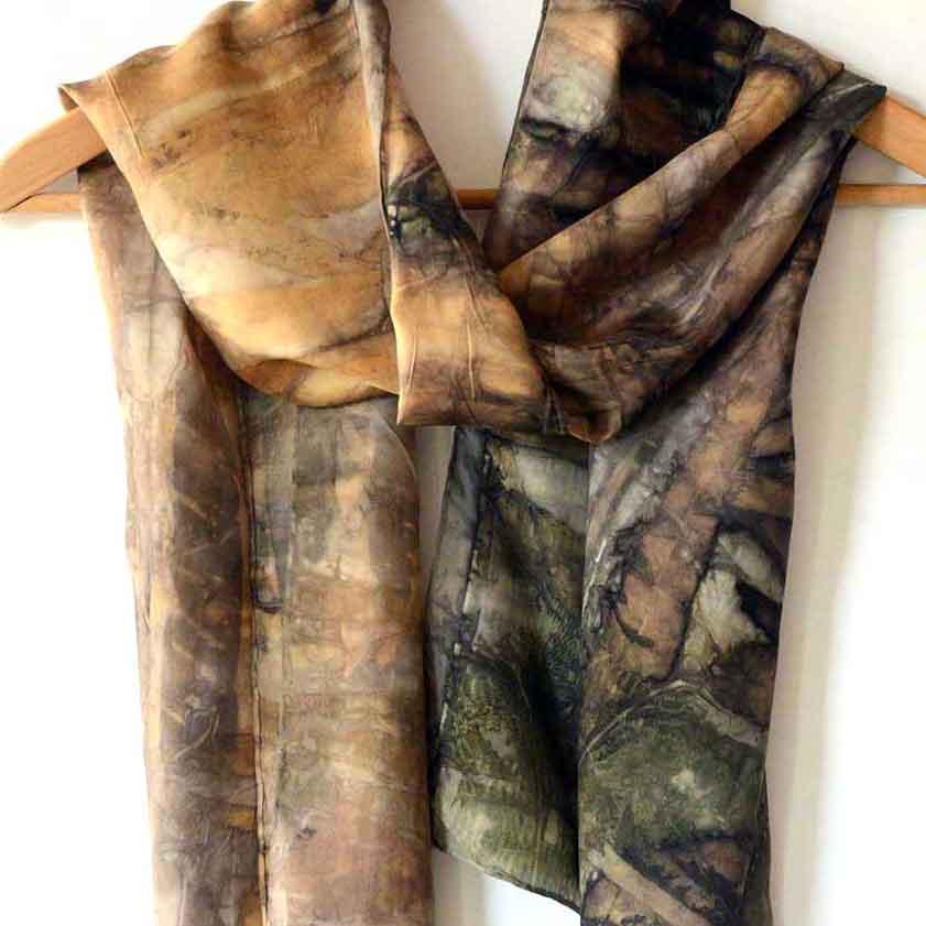 Eco-printing on silk