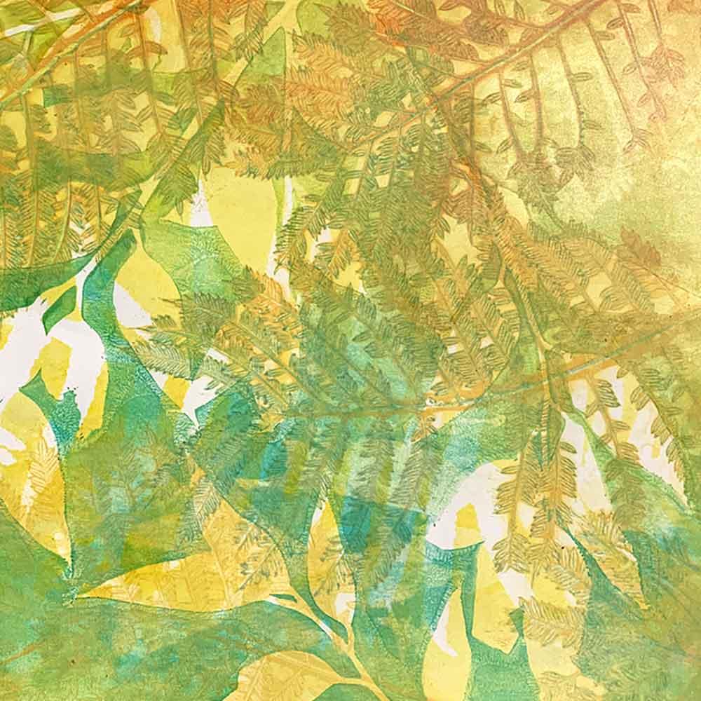 Summer Recess - Gel Plate Monoprinting