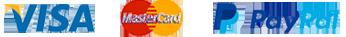 Payment Options VISA Mastercard PayPal