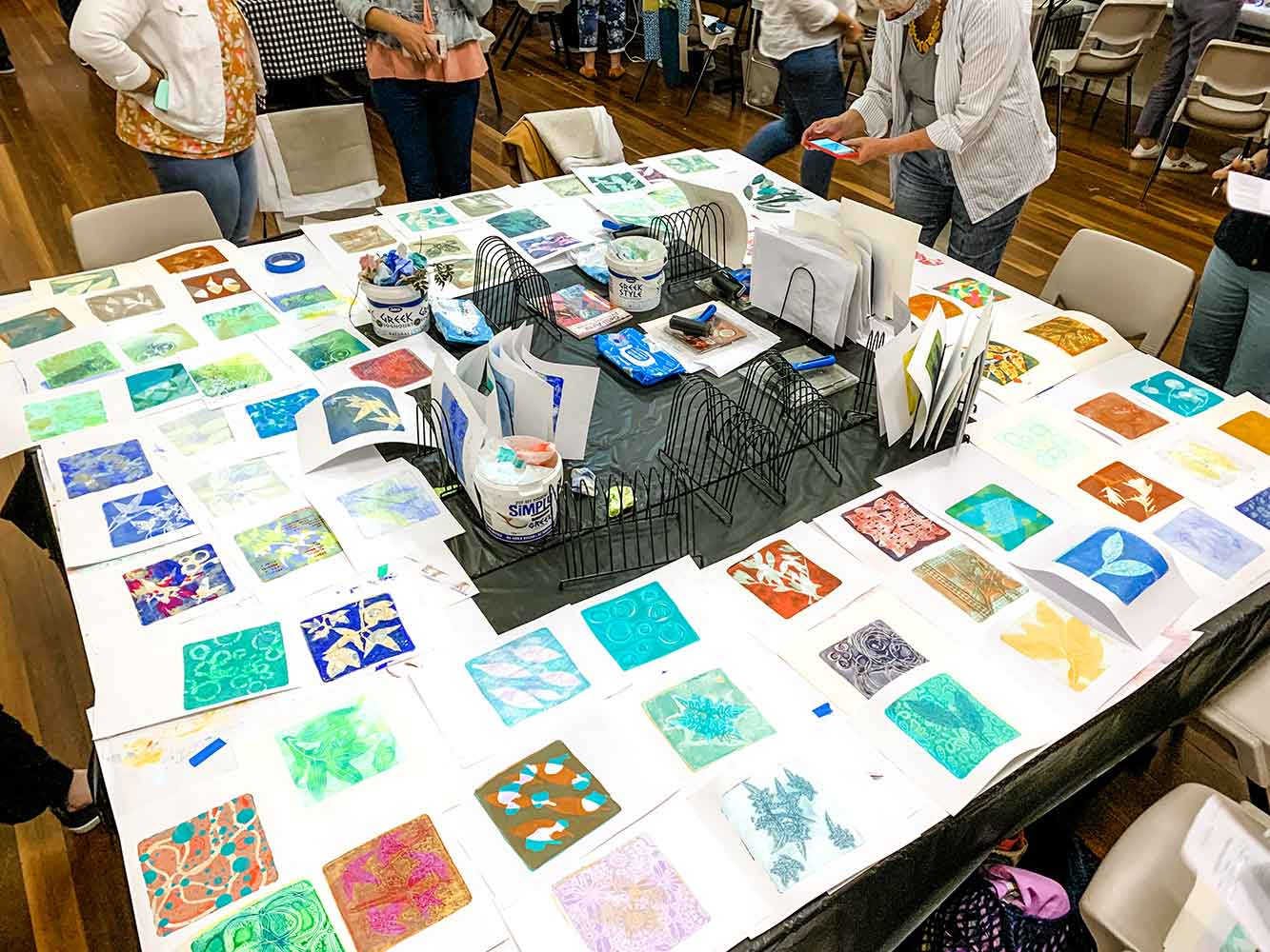 Gel Plate Monoprinting with Ministry of Handmade, Makers Escape, August 2021