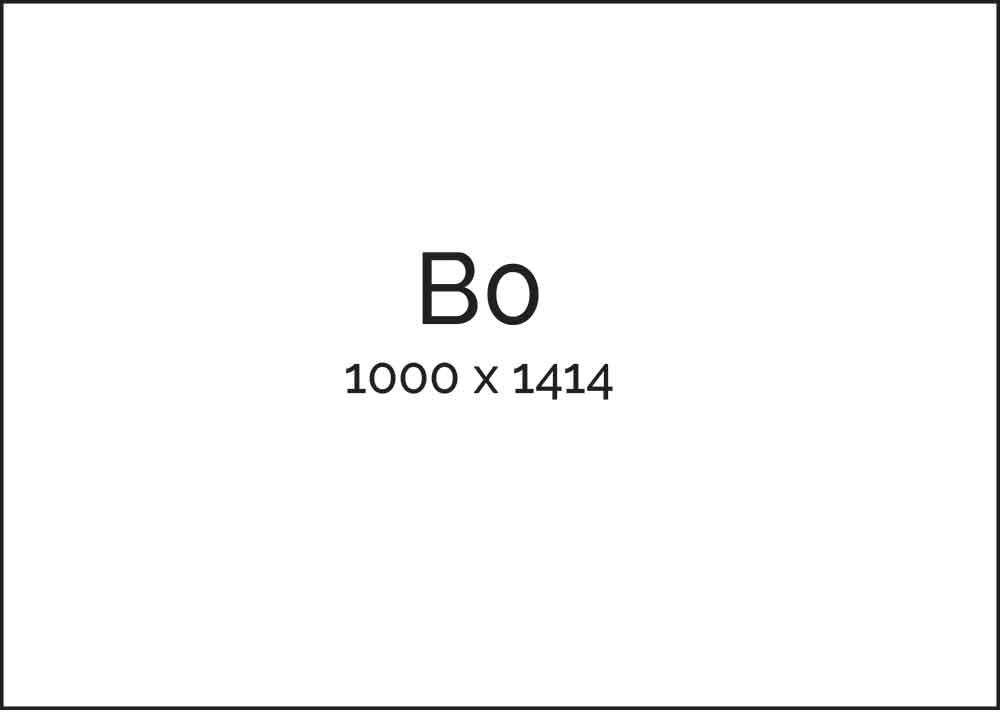 B Series Paper Sizes - B0