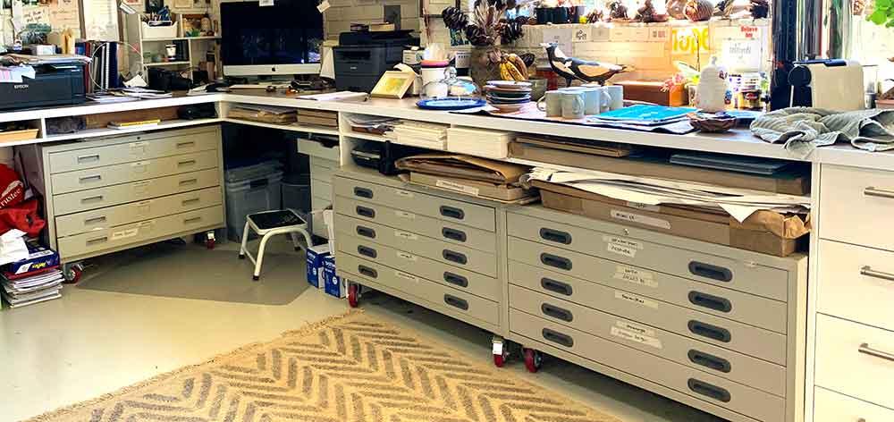 Printmaking paper storage